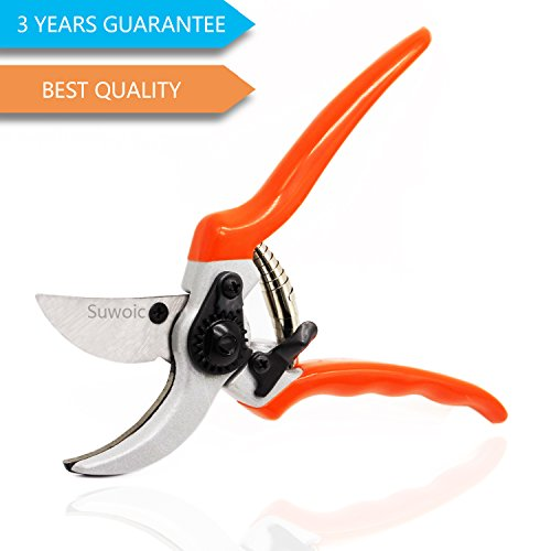 Pruning Shears, Bypass Hand Pruner by Suwoic, G...