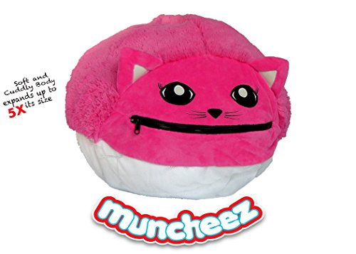 Bean Bag Pigs (Muncheez Stuffed Animal Toy Storage for Children, Kitty - Perfect for Kids - SUPER SOFT Fabric - 7 Plush Animal Choices - Upgrade Your Mesh Toy Nets & Toy Hammock - Extra Storage for Your Toys)