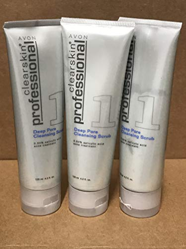 Avon Clearskin Professional Deep Pore Cleansing Scrub Lot 3 tubs
