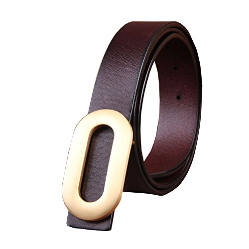 115 Grain - Menschwear Men's Belt Grain Leather Waistband with Copper Slide Buckle 1.4
