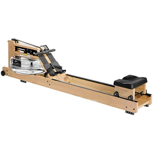 Handcrafted in Solid Ash Wood, Smooth, Quiet, Self-Regulated Resistance, Cardio Fitness Water Rower Natural Wood Rowing Machine with S4 Digital Monitor New
