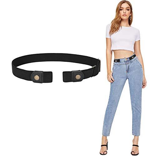 (Buckle-free Elastic Women Belt for Jeans without Buckle, SANSTHS Comfortable Invisible Belt No Bulge No Hassle, Plus Size)