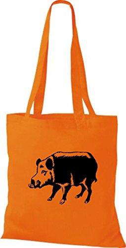 Sau En Tissu Pochette Shirtstown Orange Animaux Eber Porcinet Cochon q45YFn