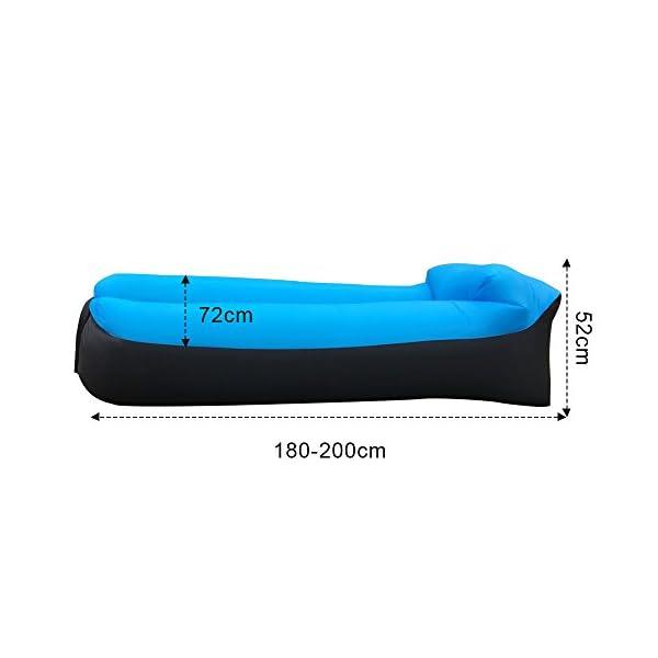41P7t%2BY M6L IREGRO Aufblasbares Sofa, Wasserdichter Aufblasbares Liege, Luftsofa Luftsack, Tragbares Air Lounger, Luftsack Sitzsack…