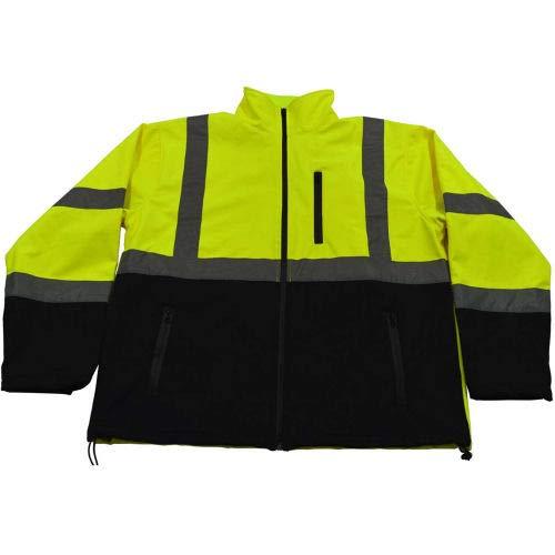 (Petra Roc Two Tone Water Resistant Soft Shell Jacket, ANSI Class 3, Lime/Blk, L, LBSFJ1-C3-L (LBSFJ1-C3-L))