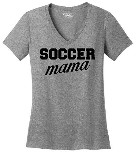 Comical Shirt Ladies Soccer Mama V-Neck Tee