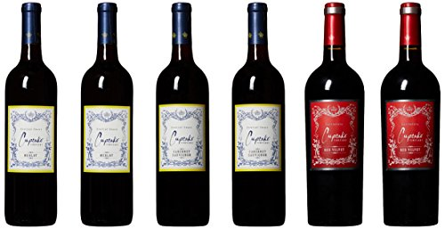 Cupcake Vineyards California Red Wine Collection #2 Mixed Pack, 6 x 750 mL