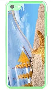 Diy Yourself Apple iPhone 5C case covers Customized Gifts Of Photography photography bottled ship and starfish in the sand dgMIVSsShtO 18352 Transparent