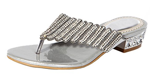 honeystore-womens-layered-rhinestone-sheepskin-flat-heel-sandals