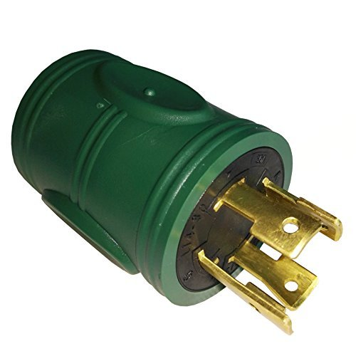 Parkworld 884913 30 AMP Generator Adapter 4-Prong Locking L14-30P Plug to 3-Prong Locking L5-30R Receptacle ()