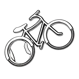 Bicycle Bottle Opener, Liangery Novelty Bike Shaped Beer Bottle Opener Keychain Key Ring for Men Women