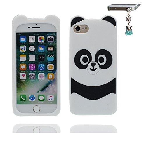 """Apple iPhone 6 Plus Coque (5.5""""), [ de matériau TPU souple Panda ] iPhone 6s Plus étui (5.5 pouces), poussière glissement résistant aux rayures, iPhone 6 Plus Case et Bouchon anti-poussière"""
