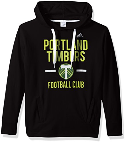 adidas MLS Portland Timbers Adult Women Simply Put Fleece Hood, Large, Black