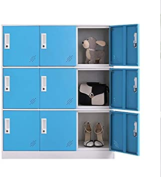 Amazon.com : Living Room Organizers And Storage Small Metal Storage Cabinet With Lock For Toy And Cloth And Self Belonging Storage (Blue, 9D) : Office Products