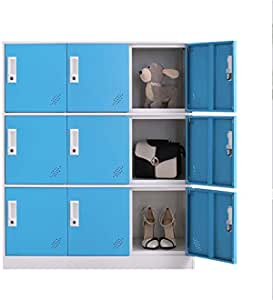 Amazon Com Office And School Locker Organizer Metal Storage Locker Cabinet For Workers Students And Home Blue Office Products