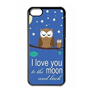 I love you to the moon and back Personalized Case for Iphone 5C, Customized I love you to the moon and back Case