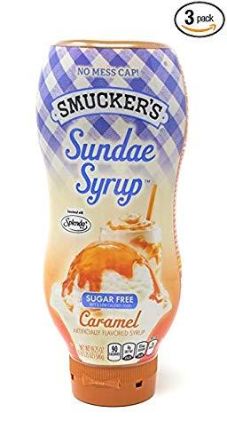 Smucker's Sundae Syrup Sugar Free Caramel Flavored Syrup, 19.25oz (Pack of 3)