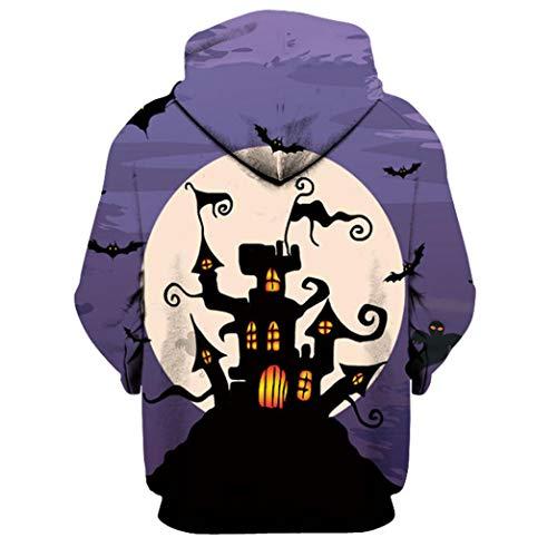 J Capuche Avec À Pullover Unisexe Hiver Hoodies Vêtements Sweatshirt Poches overdose Femme Top Casual 3d Halloween Imprimé Soldes Blouse Multicolore Homme nxBRq60Cw