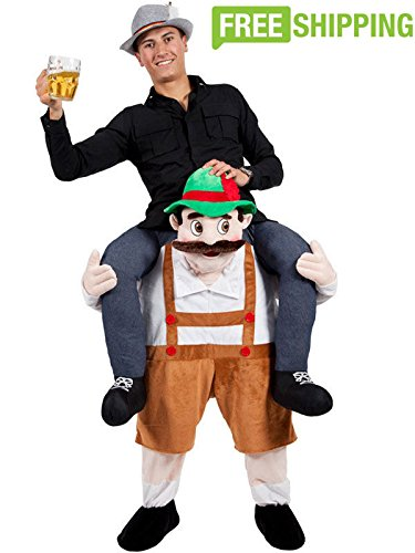 Adult Piggyback Carry Me Ride on Stuffed Beer Man Beer Festival Costume 2017