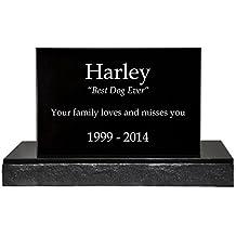Custom Granite Personalized Engraved Memorial Pet Burial Headstone