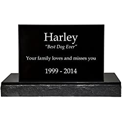 Custom Granite Personalized Engraved Memorial Pet Burial Headstone