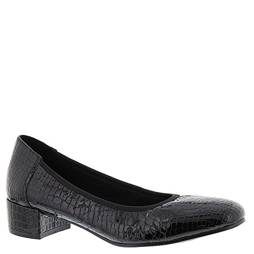 Pompa Per Piper Di David Tate Womens Black Croc Patent