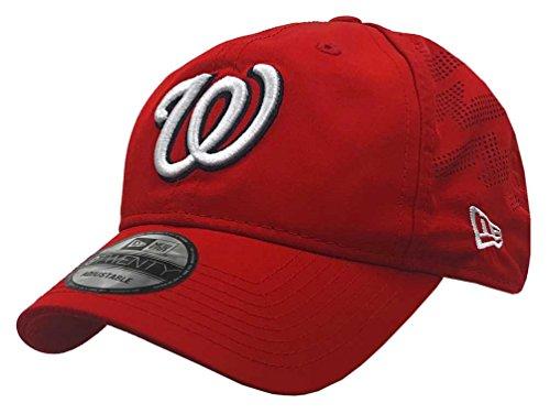New Era MLB Washington Nationals Batting Practice Baseball Hat 9Twenty Cap Red