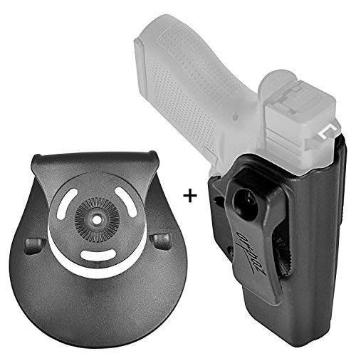 (Orpaz Gun Holster for Glock 43X Holster, Right Hand (IWB Holster with OWB Paddle Attachment))