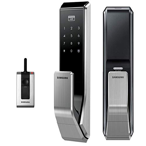 (Push Pull Innovation SAMSUNG SHS-P710 Digital Door Lock keyless touchpad Security EZON + Remote + 4pcs of RFID Cards + 4pcs of Key Tags + 4pcs of Sticky Key Tags)