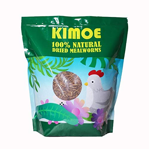 kimoe 5LB 100% Natural Dried mealworms for Birds, Chicken,Ducks (Best Fish To Have As Pets)