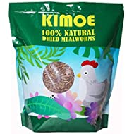 Kimoe 5LB 100% Natural Non-GMO dried mealworms-High-Protein for Birds, chicken,ducks