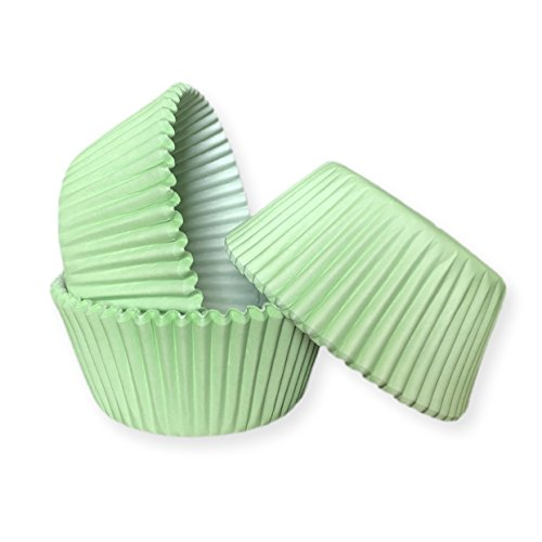 25 PC Set of Easter Rabbit Pastel Soft Mint Green Print Cupcake Liners - Baking, Caking and Craft Tools from Bakell -