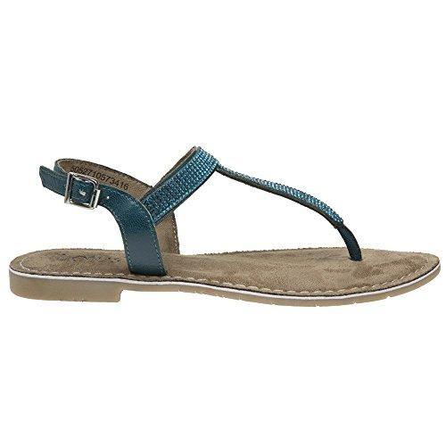 Natleat Slippers 16, Mädchen Damen Sandalen , Blau - blau - Größe: 38