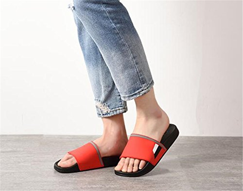 TELLW Bathroom Slippers for Male Female Summer Home Indoor Anti-Slip Thick Bottom Cool Slippers Men Blue Red lpcnYgXb