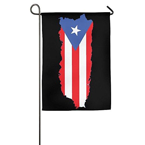 WWTBBJ-B Puerto Rico Flag Graphic Garden Flag For Festival