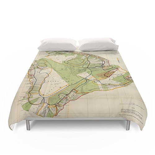 Society6 Vintage Map Of Hawaii Island (1906) Duvet Covers King: 104'' x 88'' by Society6