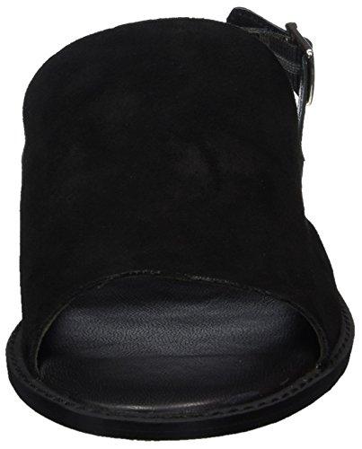 Vero Moda Vmmea Leather Sandal, Sandalias de Talón Abierto para Mujer Negro (Black)