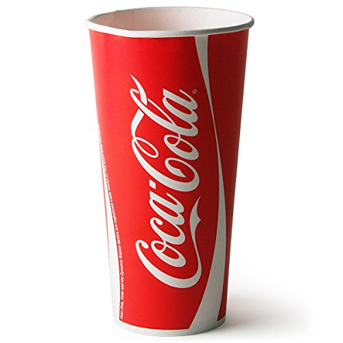 Coca Cola Paper Cups 22oz / 630ml - Case of 1000   63cl Coke Cups, Fast Food Restaurant Paper Cups, Branded Coca Cola Cups