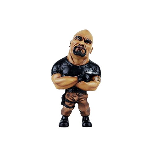Wowheads The Rock Fast And Furious Hollywood Wwe Wrestlemania Rumble Boxer Legend Movie Caricature (Non Bobblehead) Figurine (Resin Made) by Wowheads
