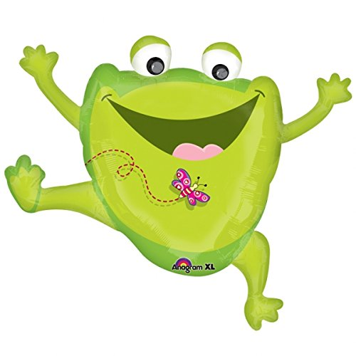 Anagram Happy Frog Mylar Balloon Party Supplies Super Shape -