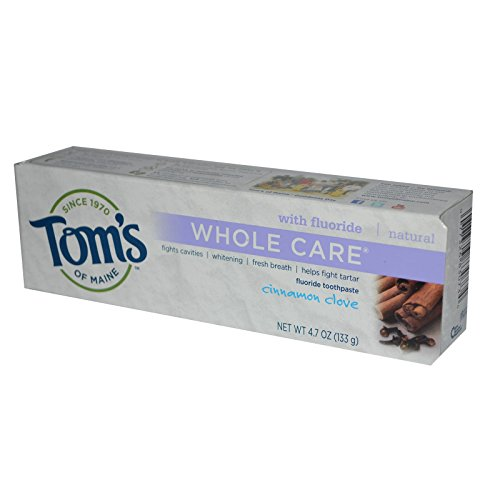 Tom's of Maine, Whole Care with Fluoride Toothpaste, Cinnamon Clove, 4.7 oz (133 g)(pack of 2)