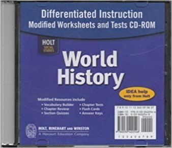 Workbook differentiated instruction worksheets : Amazon.com: Holt World History Differentiated Instruction Modified ...