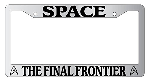 Space The Final Frontier High Quality Chrome Metal License Plate Frame Star Trek 69 (Frontier License Plate Frame compare prices)