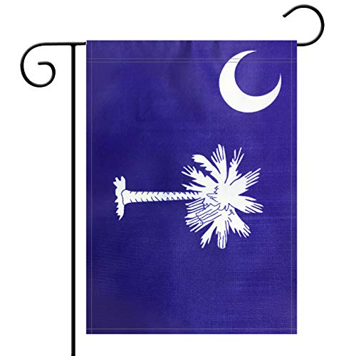 (Garden Flag South Carolina State Flag Garden Flag,Garden Decoration Flag,Indoor and Outdoor Flags,Celebration Parade Flags,SC State Party Events)