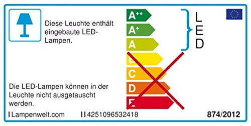1 flammig, A+, inkl. Leuchtmittel - LED-Stehleuchte Lampenwelt LED Stehlampe Ecris Wohnzimmerlampe Modern in Wei/ß u.a Floor Lamp Standleuchte f/ür Wohnzimmer /& Esszimmer