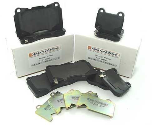 - Girodisc Magic Pads Front & Rear Brake Pad Set for 2008-15 Mitsubishi Evo X 10