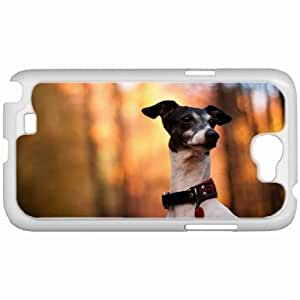 Customized Samsung Galaxy NOTE 2 Case, Diy Custom Samsung Note II Note2 Hard Shell Cover Casedog view background White