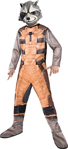 [Rubies Guardians of The Galaxy Rocket Raccoon Costume, Child Medium] (Raccoon Girl Costumes)