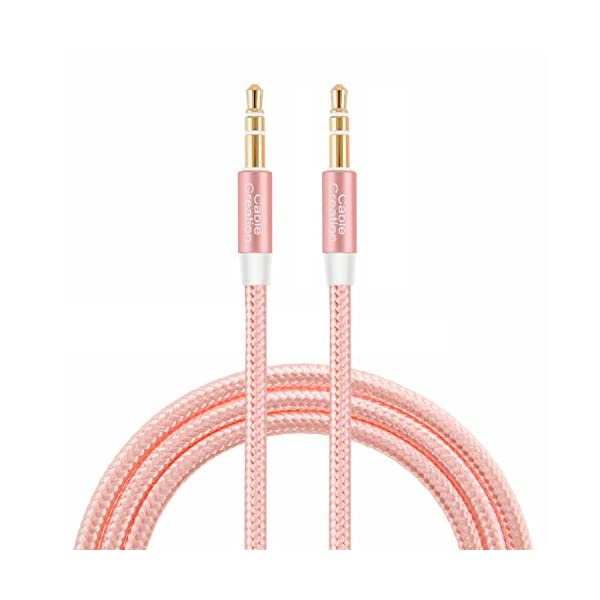 CableCreation 3.5mm Male To Male Stereo Audio Cable, Slim And Soft Cable With Gold Plated Connector, For Smartphones, Tablets And MP3 Player And More