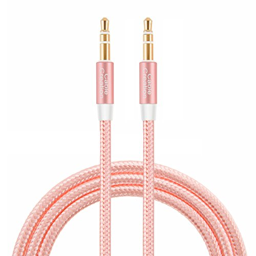 CableCreation 3.5mm Auxiliary Audio Cable 3 Feet Slim and Soft AUX Cable Compatible Headphones, Speakers, Home Car Stereos & More, 0.9M (Rose Gold)